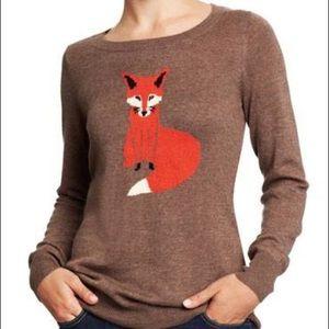 Old Navy Brown Fox Crewneck Sweater